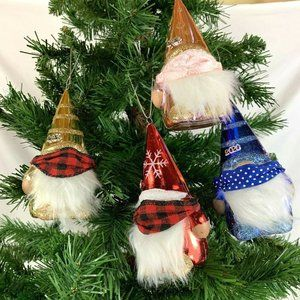 4 Gnome Christmas Ornaments with Face Mask 2020